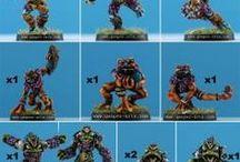 Frog Men Team / Frog Men Team: Fantasy Football Miniatures for Blood Bowl game