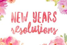 New Years Resolutions / Resolutions and goal setting for the new year