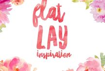 Flat Lay Inspiration / Inspiration and ideas for beautiful flat lays
