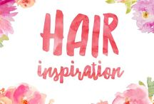 Hair inspiration / Inspiration for beautiful hair styles, cuts and colours