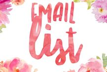 Email List / Ways to grow an email list