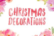 Christmas Decorations / Inspiration for lovely Christmas decorations