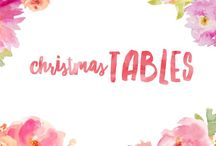 Christmas Tables / Inspiration for a beautiful table at Christmas