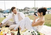 Nautical Styled Engagement Shoot / Growing up in a coastal town, we get our fair share of nautical and preppy inspiration. Which is why we had so much fun putting together this nautically inspired engagement shoot for our real life couple, Pevee and Caleb