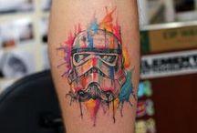 Tattoos - starwars / sleeve / comics / watercolor / artwork