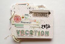 Scrapbook Inspiration - mini albums/journals