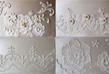 decorate cakes or cookies - with stencils & lace...