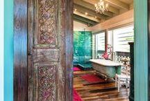 Bath/Bed Decor / Luxury, Comfort, Purple, Grey, Ruffles, Innovative, Creative, Warm, Rich colors, Inviting / by Skiler Norton