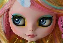Rainbow blythe dolls / by Lettice