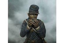 54th Regimiento de Masachussets. Guerra Secesión Americana. / Regimiento de hombres de color de la Unión. Fotos de ejemplo. Figura en proceso