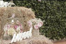 Wedding / Shabbi chic / Aquí encontraras ideas para tu boda inspirada en la Tendencia Shabbi chic / Gama de colores: Blanco - Marfil - Gris - Palo de Rosa