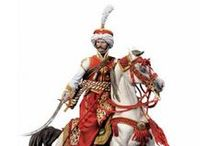 Mamelucos del Ejercito Francés oficiales a pie y caballo. / Proyecto finalizado, fotos de ejemplo para pintura.