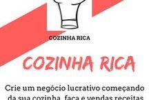 Cozinha Rica Oficial / Receitas para o dia a dia e dicas de como fazer doces salgados para vender e montar um negocio próprio.