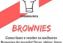 Brownies / Descubra tudo sobre como fazer brownies, como embalar os brownie para vender e veja os cursos do momento para fazer esse deliciosos bolo para vender.