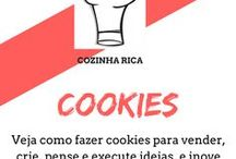 Cookies / Descubra como fazer deliciosos cookies para vender ou ate mesmo fazer para a família em momentos especiais e festivos.