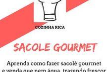 Sacole gourmet / Clique no pins e veja como ganhar dinheiro fazendo sacole gourmet, geladinho, din din para vender e ganhar dinheiro sem sair de casa