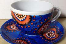 Filiżanki / Ręcznie malowane filiżanki, filiżanka na kawę, filiżanka do kawy, porcelana, hand painted