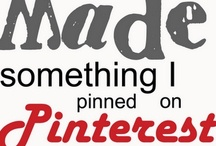 Pinterest Pins I've Tried / Pins I've actually tried and what I thought of them. / by Erin