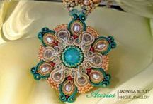 My hand embroidered jewellery with soutache