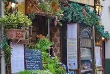 Cafe's and Shops / Quaint storefronts from around the world.