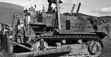 C Heavy Bulldozers (2) / Oldtime Earth Movement Heavy Bulldozers.