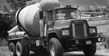 AB American Cement Mixer Trucks (2) / Oldtime American Cement Mixer Trucks.