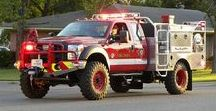 AB American Fire Deprt Trucks (011) / American FD Light Brush Units.