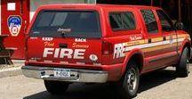 AB American Fire Deprt Trucks (00) / American FD Chief Batallion Command Vehicles.