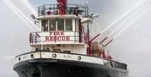 AB American Fire Deprt Trucks (0111111) / American FD Boats & Water Ambulances.