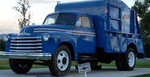 AB American Bin Lorries (2) / Oldtime American Trash Loader Trucks.