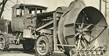AB American Snow Plows (2) / Oldtime American Snow Plows Trucks.