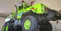 AB American Fire Deprt Trucks (0111)-(0111) / Olden but Golden Oldtime Heavy Brush FD Trucks.