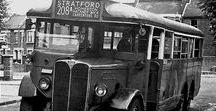 X European Old Buses (2)-(2) / Oldtime European Buses,black & white Legends.