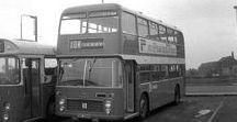 X European Old Buses (3)-(3) / Oldtime European Double Deck Buses,in black & white.