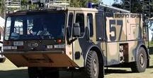 W World Airport Fire Deprt. (3) / Military Airports & Bases Heavy FD Trucks.