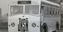 X European Old Buses (2)-(2)-(2) / Oldtime European Buses,Black & White photos.