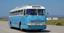 """X Hungary Old Buses / Vintage bus from the Old Hungarian brand """"IKARUS""""."""