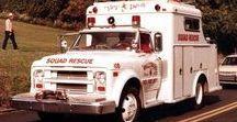 AB American Fire Deprt Trucks (4)-(4)-(4) - 2 / Oldtime Swab & Rescue FD Trucks.