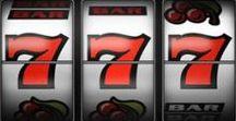 Automaty hazardowe - strategie gry / Tablica ta przedstawia obrazki związane ze skutecznymi metodami gry na automatach hazardowych - tzw. maszynami barowymi czy też jednorękmi bandytami.
