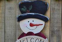 Christmas Decoration / Gift Ideas for Christmas - Christmas Decor - Handmade Christmas Wooden Signs