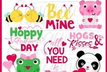 Valentine's Day Clipart / Valentine clipart, Love clipart,  commercial use, personal use, instant download, for - digitizers, embroidery, applique, paper crafting, planner stickers, teachers, t-shirts.