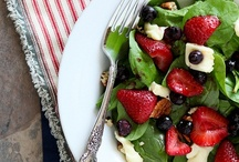 Salads for those rare times I feel like being healthy! / by Kathy Shaw