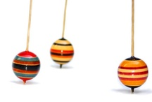 Wood: Tops & Toys / Tops for kids, tops for adults.  Put a bowl full of tops on your desk and watch people have fun. / by Paul Russell