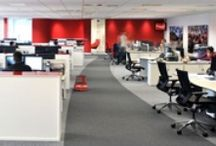 Open Plan Office Design / Open-plan office design provides a communal working area that facilitates interactions and collaboration amongst colleagues. Here are some of the open plan workspaces we have created for our clients:
