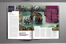 Magazine + Print Design / Magazine design, publication design, typography colour layout theme style