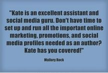 Testimonials / Lovely things that have been said about Kate Tilton's Author Services, LLC  katetilton.com
