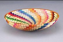 Dyes and Paint / Color and dyes create exceptional embellishment for turnings. These pieces are a witness to the art of color and accentuation.