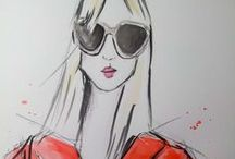 Fashion Illustrations by ME! / ...a side passion of mine...drawing FASHION! / by Jennifer Love Gironda