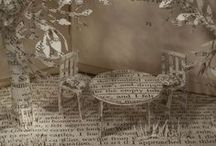 Book Art / Beautiful art created with books.