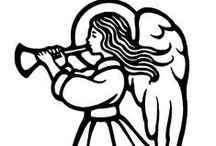 Angels Outlines/Printables / by Cynthia Burrell